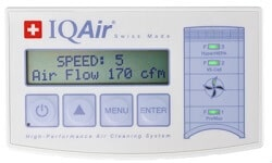 iqair healthpro plus air quality indicator