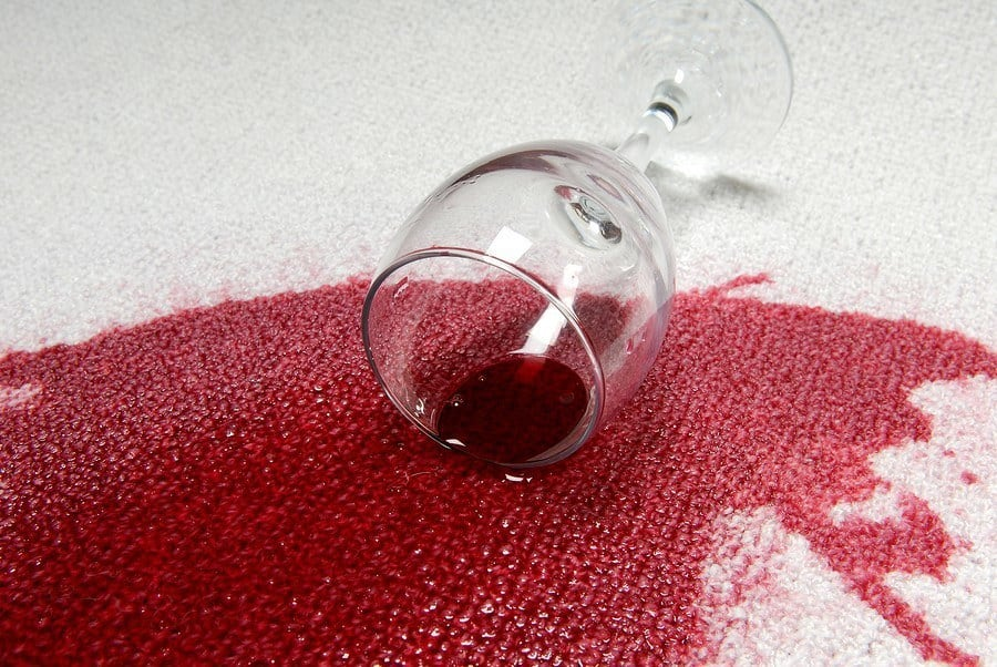 Wine Stain on Carpet