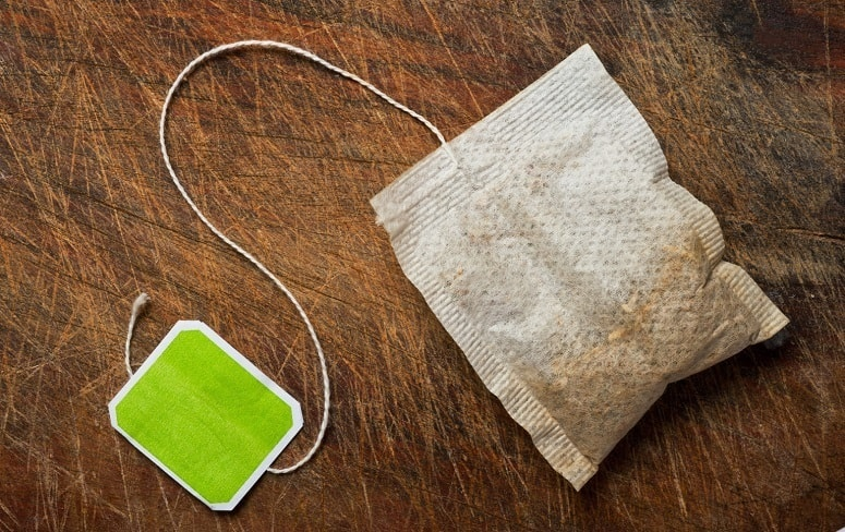Tea Bag On Hardwood Floor