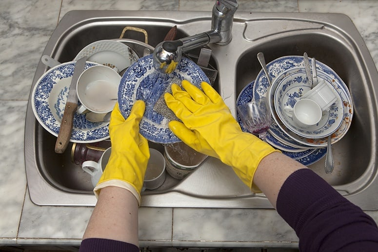 Dishes Cleaning as you go