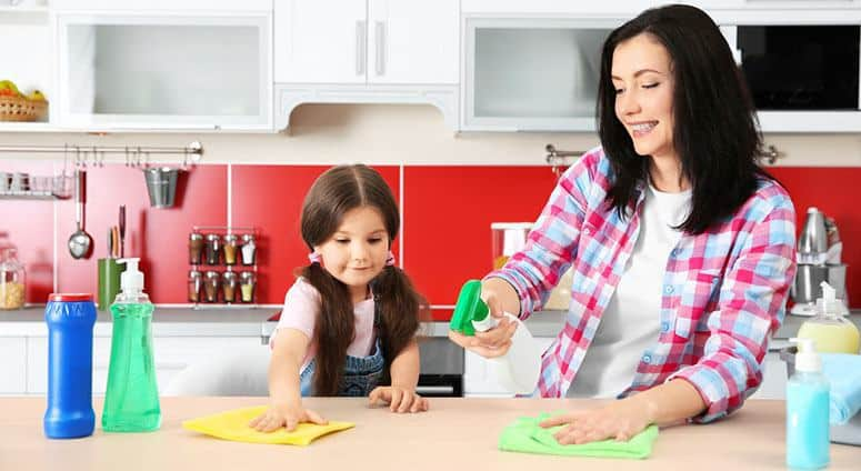 Cleaning with Family
