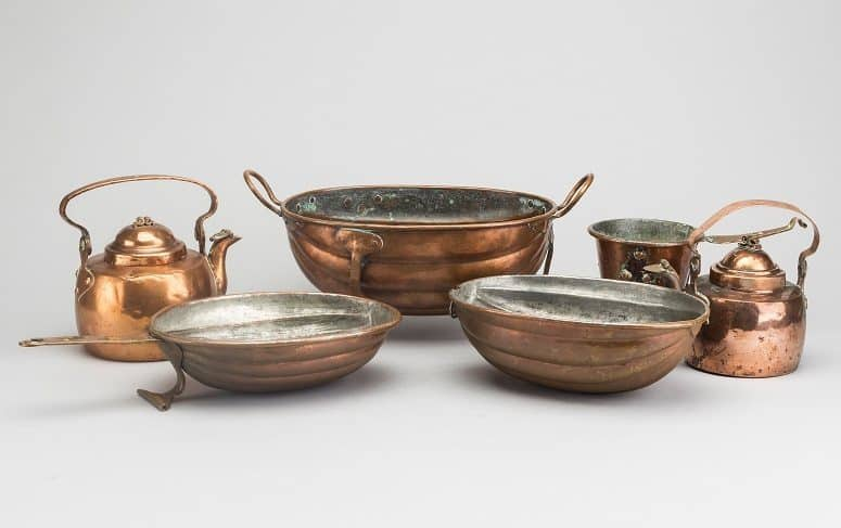 Pots And Pans Made From Copper