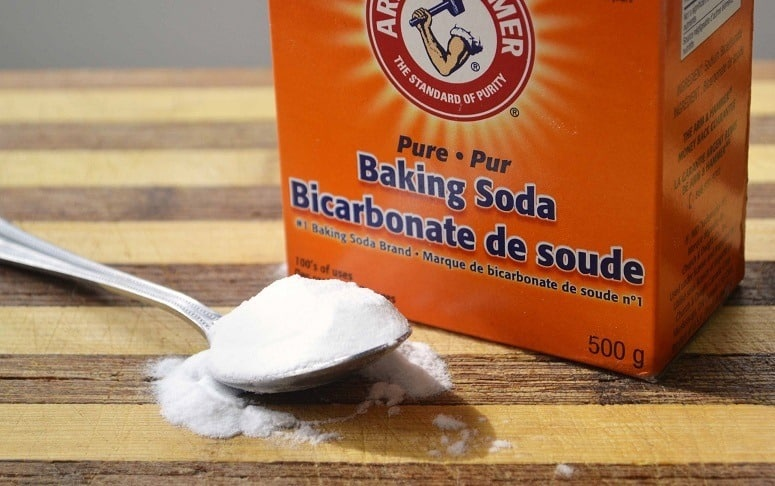Baking Soda On Spoon