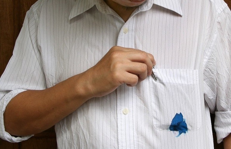 ink stain on shirt